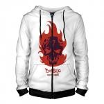 Merchandise Zipper Hoodie El Diablo Logo White