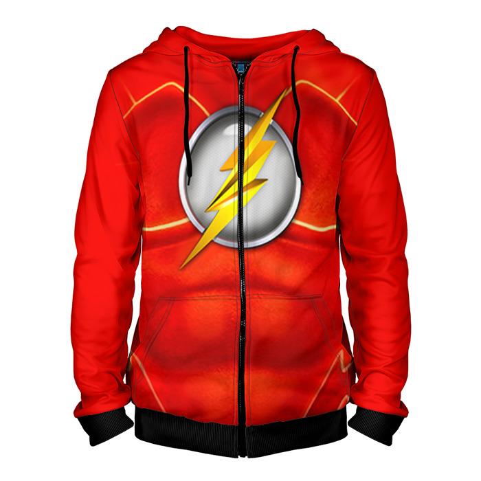 Merch Zipper Hoodie The Flash Costume Print