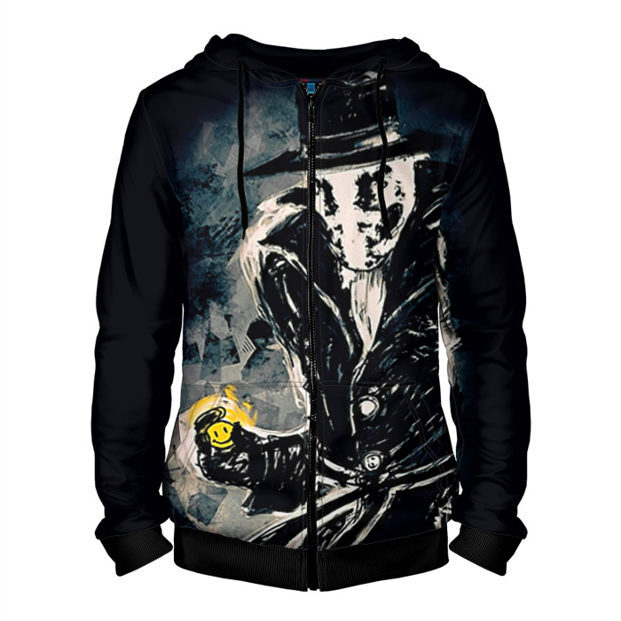 Buy Zipper Hoodie Watchmen Rorschach merch Hood Apparel Merchandise collectibles