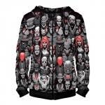 Merch Zipper Hoodie Super Villains Dc Batman