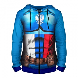 - People 4 Man Hoodie Jacket Front Blue 700 3