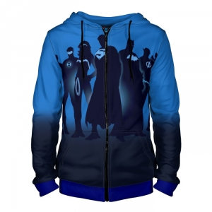 - People 4 Man Hoodie Jacket Front Blue 700 4