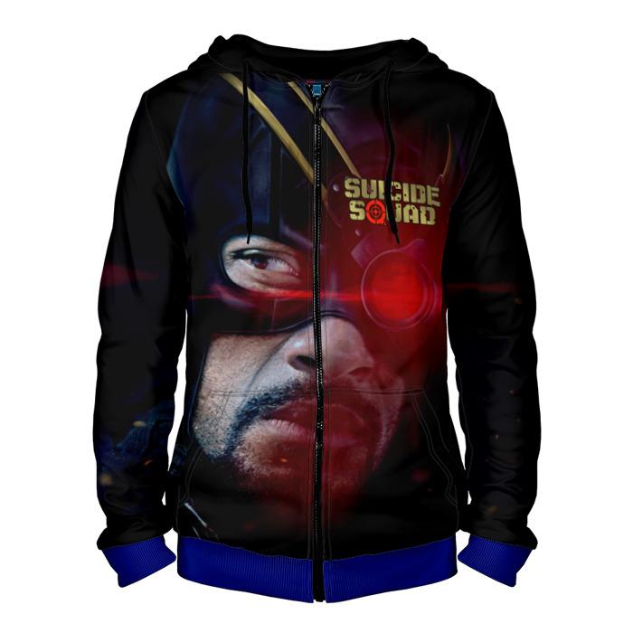 Collectibles Zipper Hoodie Deadshot Black Suicide Squad