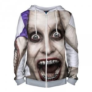 Merch Zipper Hoodie Joker Suicide Squad Jared Leto