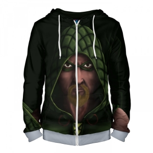 Buy Zipper Hoodie Green Arrow merch Hood Apparel Merchandise collectibles