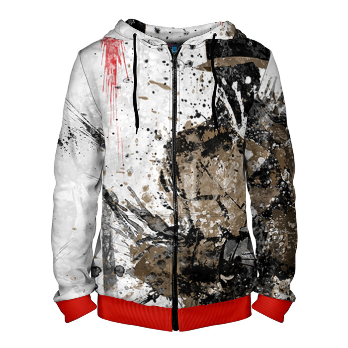 Buy Zipper Hoodie Art Rorschach Watchmen merch Hood Apparel Merchandise collectibles