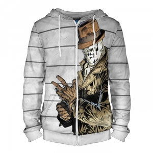 Buy Zipper Hoodie Rorschach Watchmen merch Hood Apparel Merchandise collectibles