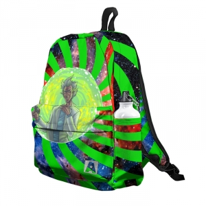 Buy Backpack Rick and Morty Rick in Portal green Adventure School Bag merchandise collectibles