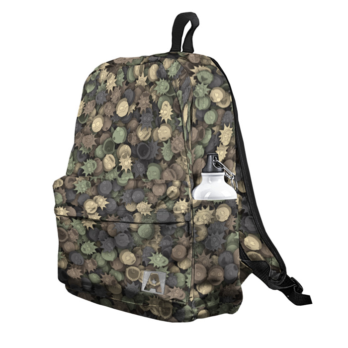 Buy Backpack Rick and Morty Military art School Bag merchandise collectibles
