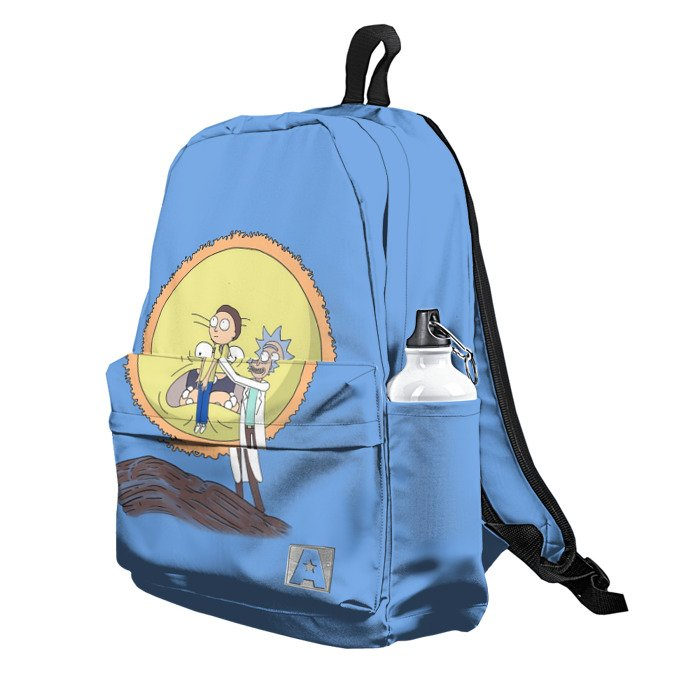 Buy Backpack Rick and Morty King Lion Inspired Art School Bag merchandise collectibles