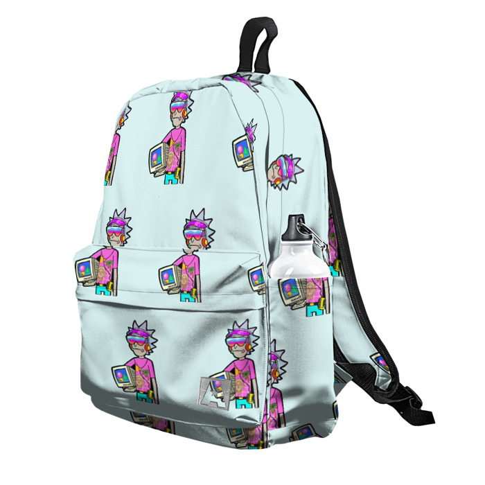 Buy Backpack Rick and Morty New Wave Inspired Art 80th School Bag merchandise collectibles