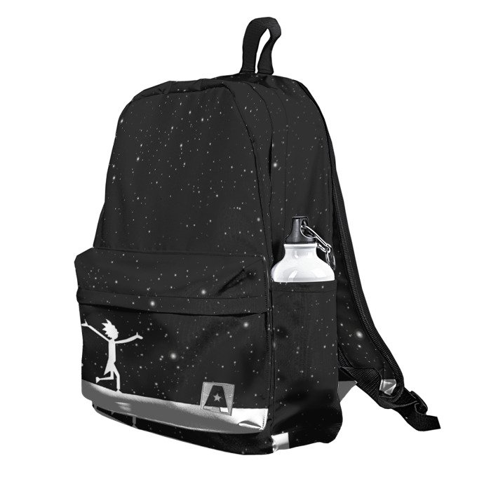 Buy Backpack Rick and Morty Stars Sky Universe School Bag merchandise collectibles