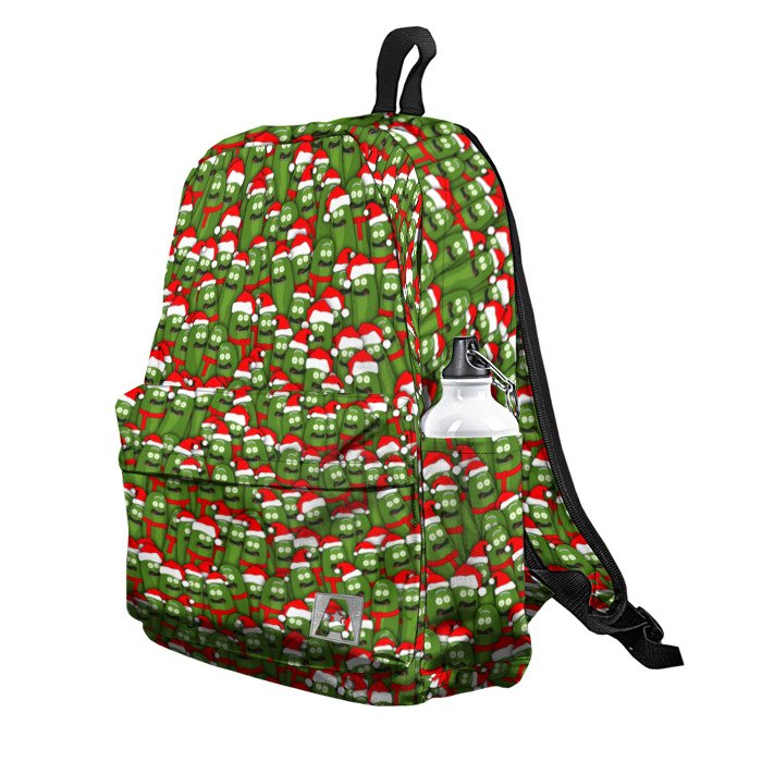 Buy Backpack Rick and Morty Christmas Pickles School Bag merchandise collectibles