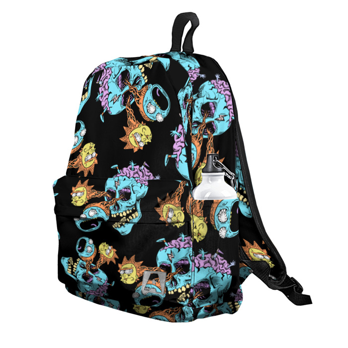 Buy Backpack Rick and Morty Skull Art Inspired School Bag merchandise collectibles