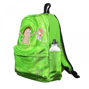 Buy Backpack Rick and Morty Nevermind Art School Bag merchandise collectibles