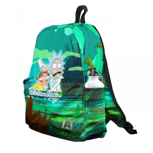 Buy Backpack Rick and Morty Inspired Illustration School Bag merchandise collectibles