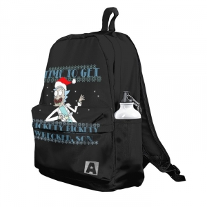 Buy Backpack Rick and Morty Christmas Rick X mas School Bag merchandise collectibles