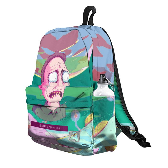 Buy Backpack Rick and Morty Jerry Smith School Bag merchandise collectibles