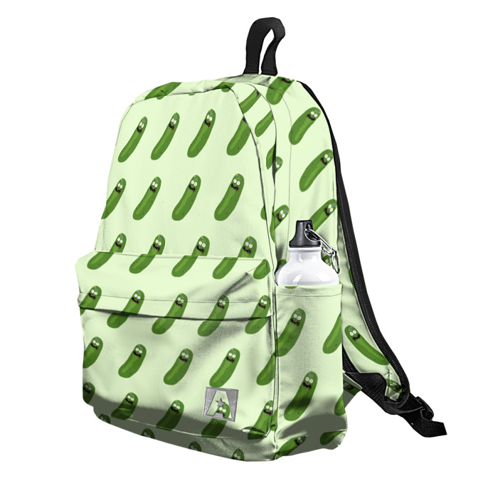 Buy Backpack Rick and Morty Pickles Pattern Art School Bag merchandise collectibles