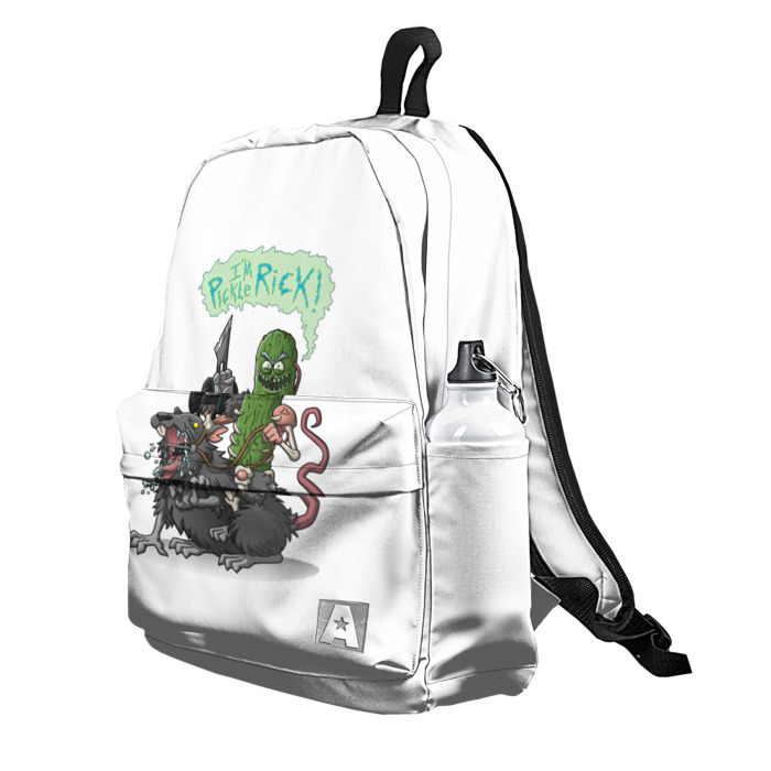 Buy Backpack Rick and Morty Pickle Rick School Bag merchandise collectibles