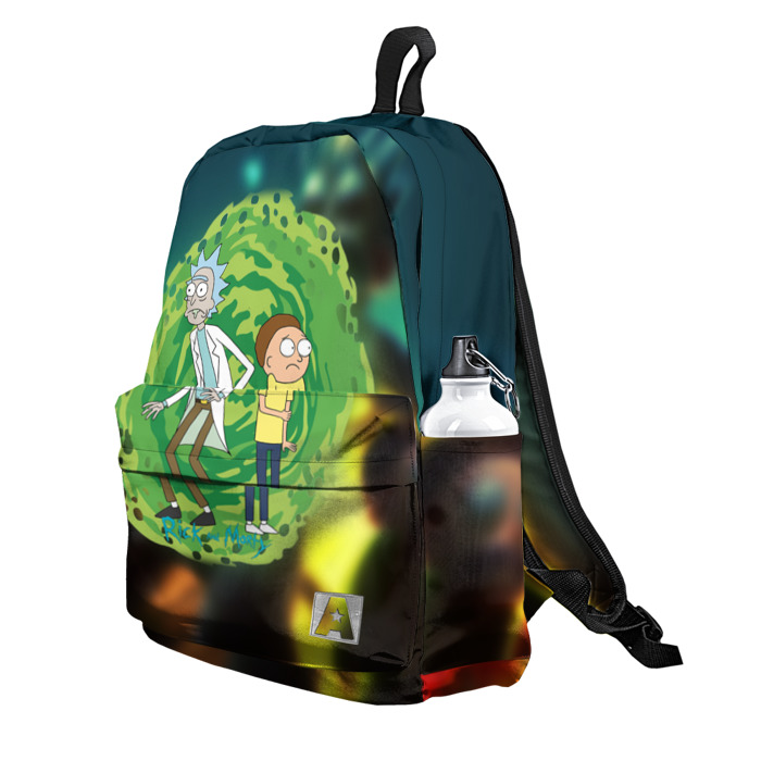 Buy Backpack Rick and Morty Portal 11 Inspired School Bag merchandise collectibles