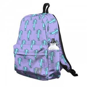 Buy Backpack Rick and Morty Rick's Pattern F*ck off School Bag merchandise collectibles