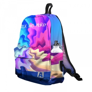 Buy Backpack Rick and Morty New Rick Portal Waves Inspired School Bag merchandise collectibles