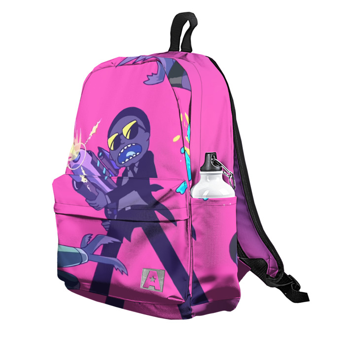 Buy Backpack Rick and Morty Retro New Wave Inspired 80th School Bag merchandise collectibles