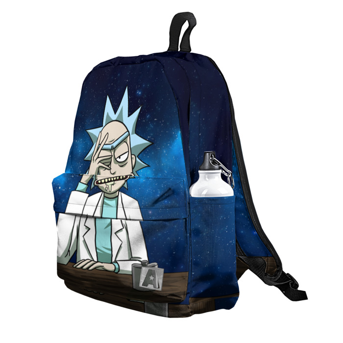 Buy Backpack Rick and Morty Space 2 Rick Thoughts School Bag merchandise collectibles