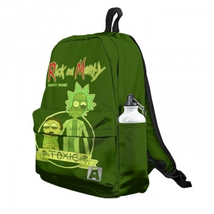 Buy Backpack Rick and Morty Green print Art School Bag merchandise collectibles