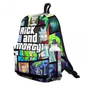 Buy Backpack Rick and Morty GTA Inspired Vibe School Bag merchandise collectibles