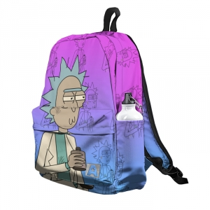 Buy Backpack Rick and Morty New Wave Retro 80th Vibe School Bag merchandise collectibles