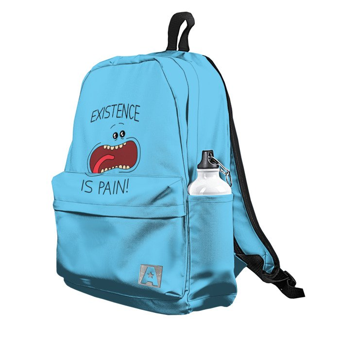 Buy Backpack Rick and Morty Existence is Pain Mr. Meeseeks School Bag merchandise collectibles