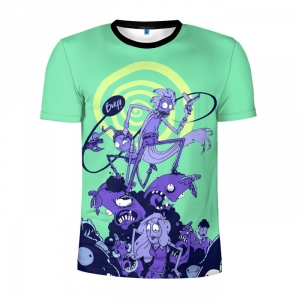 Buy Men's Compression t shirt Rick and Morty Fan Art Apparel Merchandise collectibles