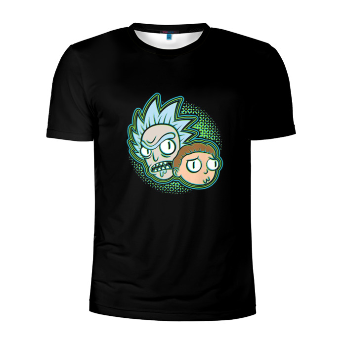 Buy Men's Compression t shirt Rick and Morty Faces Fun Art Merchandise collectibles