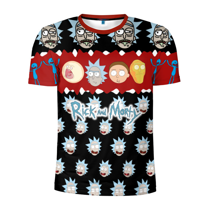 Buy Men's Compression t shirt Rick and Morty Christmas Characters Merchandise collectibles