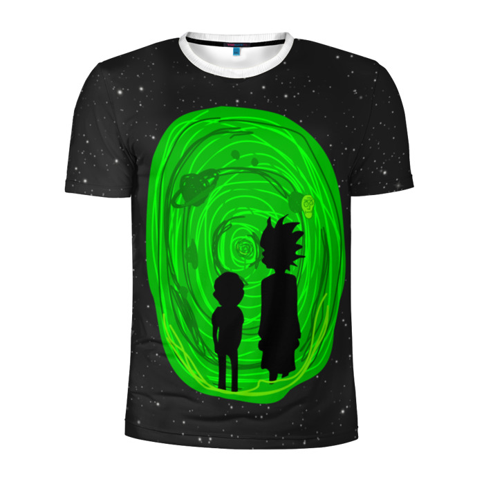 Buy Men's Compression t shirt Rick and Morty Portal Apparel Merchandise collectibles