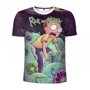 Buy Men's Compression t shirt Rick and Morty Male tee Shirts Merchandise collectibles