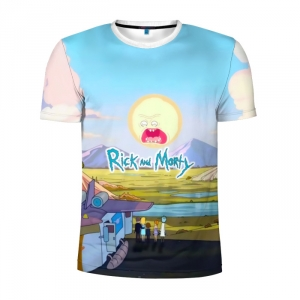 Buy Men's Compression t shirt Rick and Morty Screaming Sun Merchandise collectibles