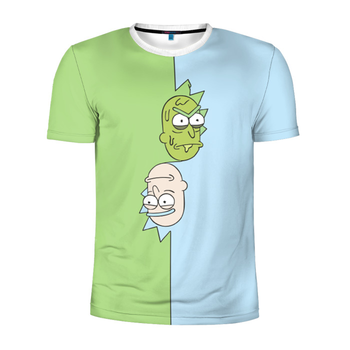 Buy Men's Compression t shirt Rick and Morty Two Faced Rick Merchandise collectibles