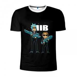 Buy Men's Compression t shirt Rick and Morty Man in Black Crossover Merchandise collectibles
