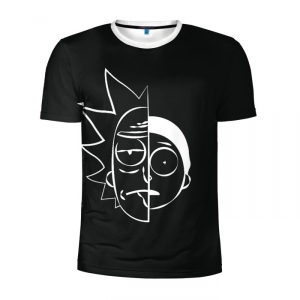 Buy Men's Compression t shirt Rick and Morty Painted Art Merch Merchandise collectibles