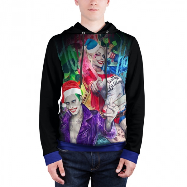 Joker Christmas Sweater.Hoodie Harley And Joker Christmas Suicide Squad