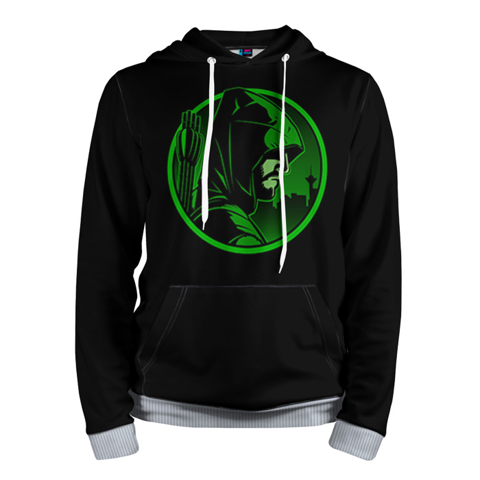 Buy Hoodie Green Arrow Logo Symbol Oliver Queen Merchandise collectibles