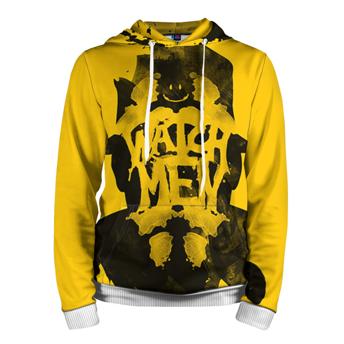 Buy Hoodie Rorschach Watchmen Yellow Merchandise Guys Merchandise collectibles