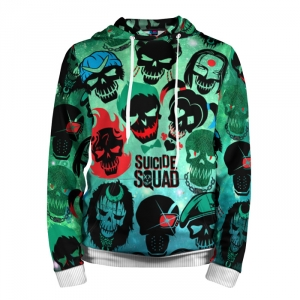 Collectibles Hoodie Suicide Squad All Characters Movie Inspired Art