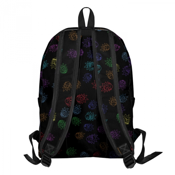 Buy Backpack Rick and Morty Rick's Face Art School Bag merchandise collectibles
