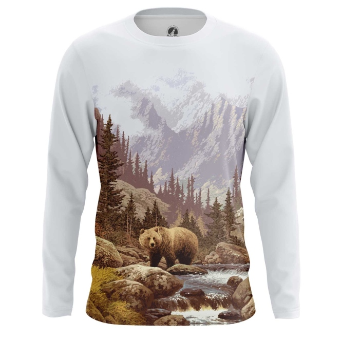 Merchandise Long Sleeve Wild Nature Animals Grizzly Bear