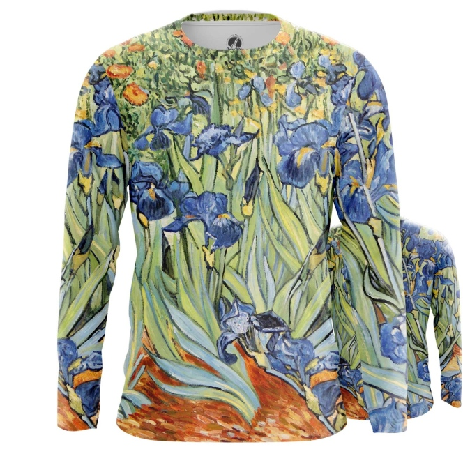 Collectibles Long Sleeve Irises Painting Vincent Van Gogh Post-Impressionism