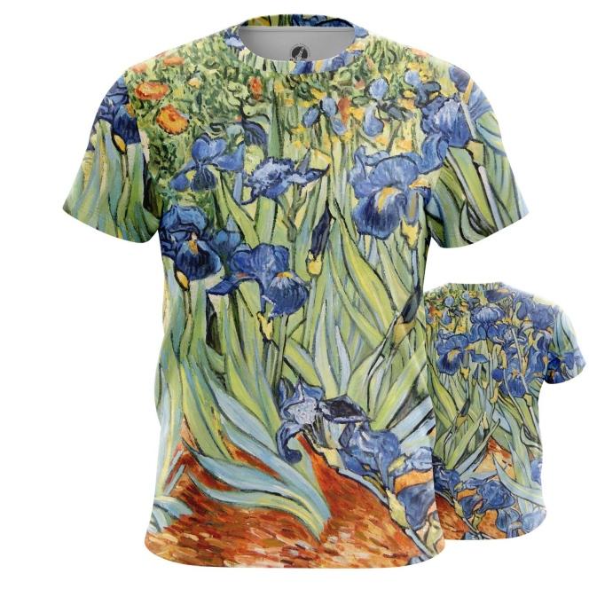 Collectibles T-Shirt Irises Vincent Van Gogh Post-Impressionism